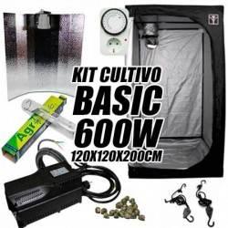 Kit Cultivo Interior Basic 600w + Armario de Cultivo