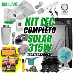 Kit LEC Completo Solar LUMii 315w + Armario de Cultivo