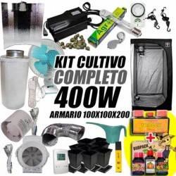 Kit Cultivo Interior Completo 400w + Armario de Cultivo