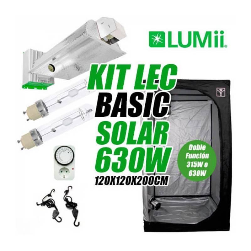 Kit LEC Basic Solar LUMii 630w + Armario de Cultivo