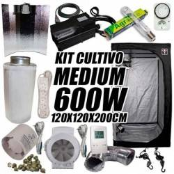 Kit Cultivo Interior Medium 600w + Armario de Cultivo