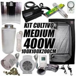 Kit Cultivo Interior Medium 400w + Armario de Cultivo