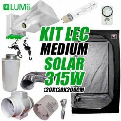 Kit LEC Medium Solar LUMii 315w + Armario de Cultivo