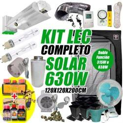 Kit LEC Completo Solar LUMii 630w + Armario de Cultivo