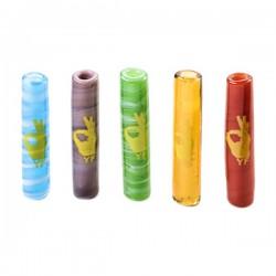 Filtro Yellow Finger Vidrio Murano Colores 24x5 mm Pack 5 u.