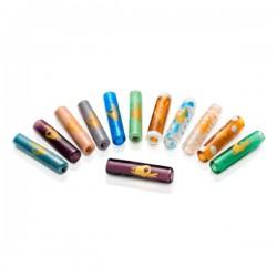 Filtro Yellow Finger Vidrio Murano Colores XL 28x6.5 mm Pack 5 u.