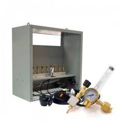 Generador CO2 Gas Natural 8 Quemadores + Regulador CO2 Kit
