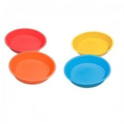 Bandeja Silicona Redonda 20 cm Colores Variados