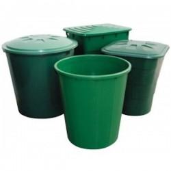Depósito Cuadrado Verde Tapa - 200L 67x67x76 cm