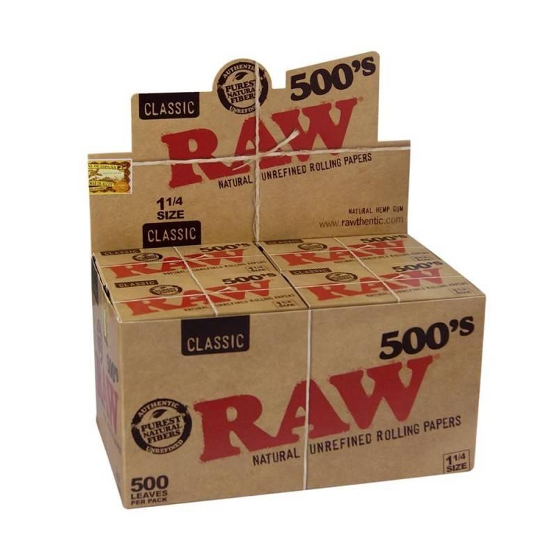Raw 500 1.1/4 ( caja de 20 librillos)
