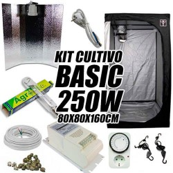 KIT CULTIVO INTERIOR BASIC 250W ARMARIO 80X80X160CM