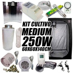 KIT CULTIVO INTERIOR MEDIUM 250W ARMARIO 60X60X140CM