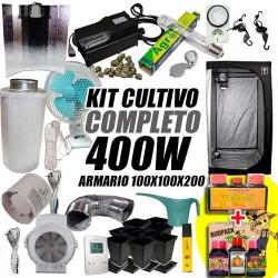 KIT CULTIVO INTERIOR COMPLETO 400W ARMARIO 100X100X200CM