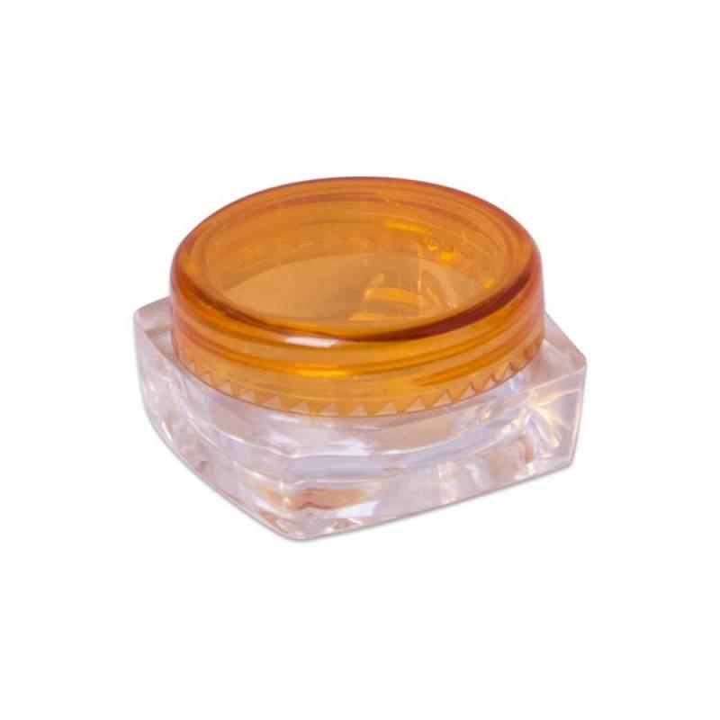 Bote plástico tapa naranja